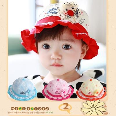 韓版 立體花朵 兒童盆帽