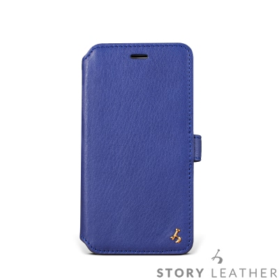 iPhone 6 / 6S 4.7吋 硬殼式側翻 NAPA藍現貨皮套