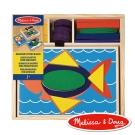 美國瑪莉莎 Melissa & Doug 幼兒幾何積木-10面拼板, 30pcs