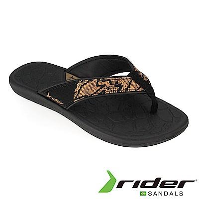 Rider 巴西 女 CLOUD IV 流行夾腳鞋(黑金)