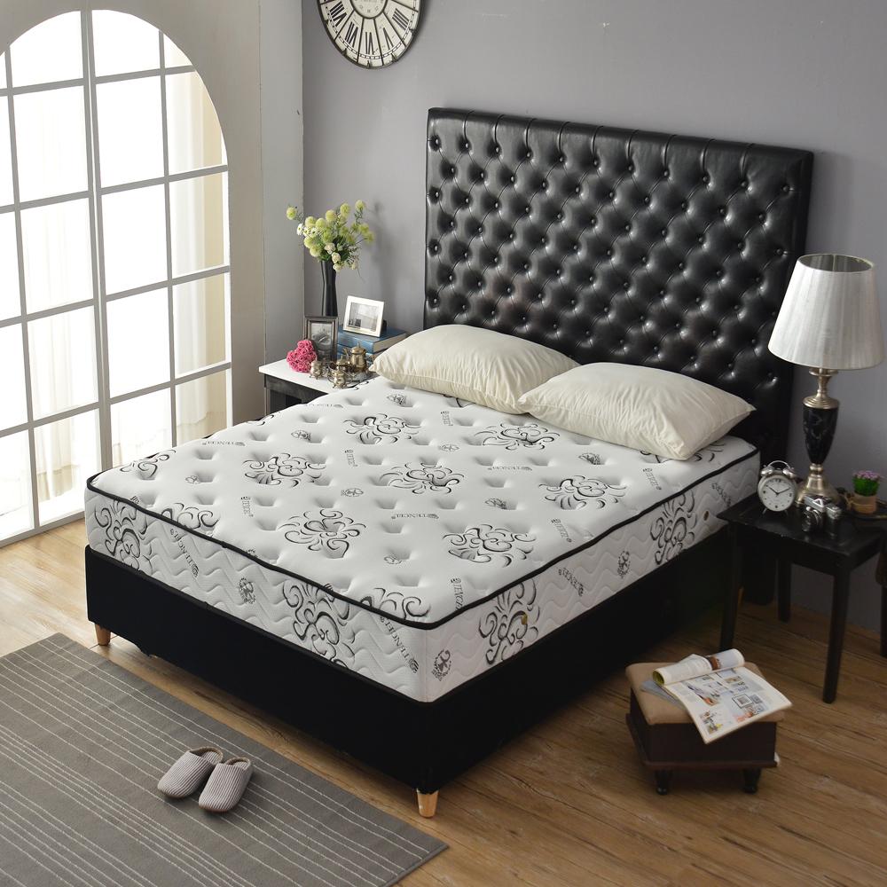 Ally愛麗頂級涼感天絲高澎度抗菌 硬式獨立筒床 雙人加大6尺