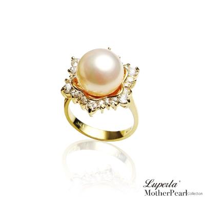 大東山珠寶 南洋貝寶珠 璀璨純銀戒指 雪花燦爛 高雅金