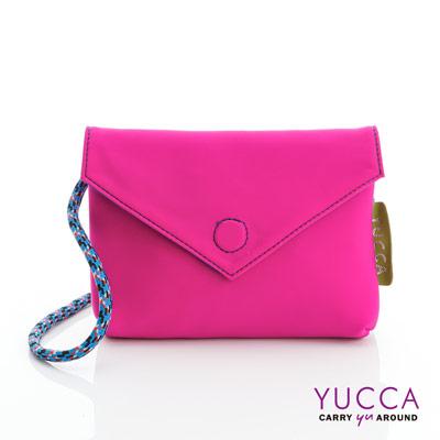 YUCCA - 防潑水尼龍磁扣側背包-螢光紫色 D012262