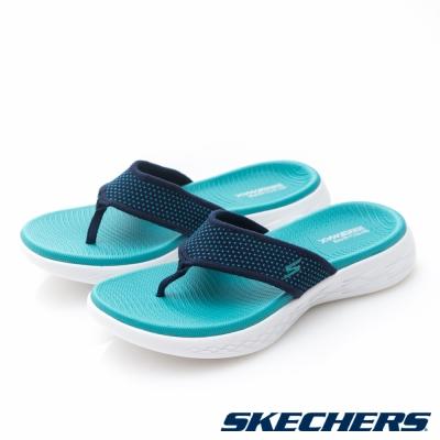 SKECHERS(女)時尚休閒系列ON THE GO 600拖鞋-15300NVTQ