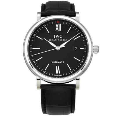 IWC 萬國錶 Portofino 柏濤菲諾系列經典機械黑面腕錶IW356502-40mm