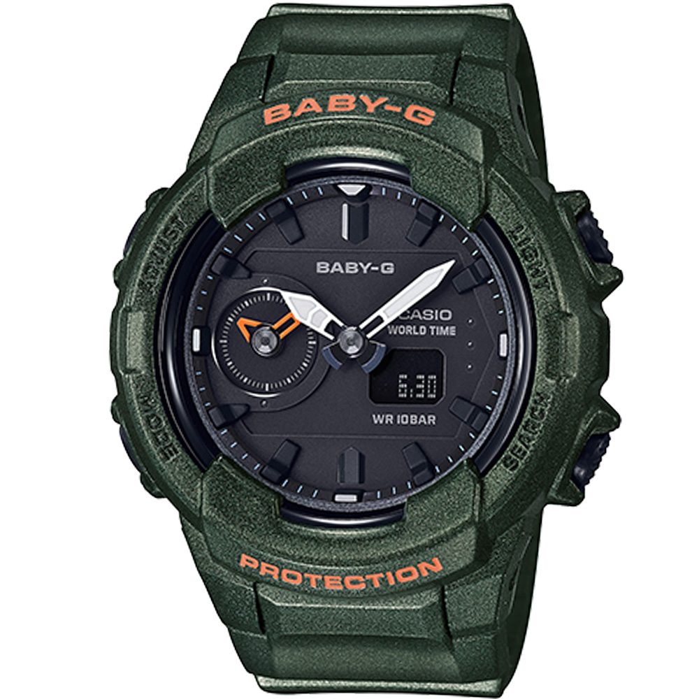 BABY-G  街頭時尚風格運動錶(BGA-230S-3)墨綠42.9mm