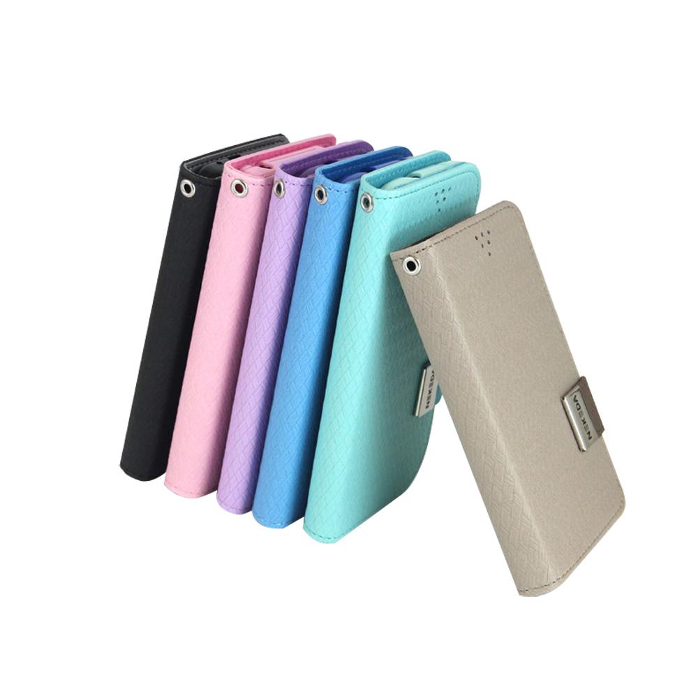 NEKEDA Samsung S4/ i9500 編織紋側掀式皮套