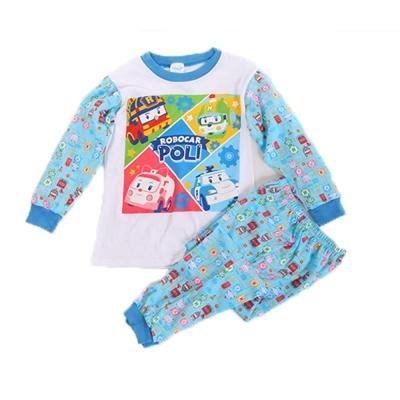 POLI純棉防蚊布套裝 藍 k60201