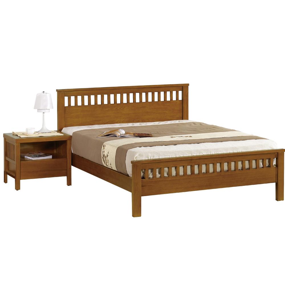 居家生活 米歇爾5尺柚木雙人床(不含床墊)