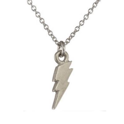 Dogeared 許願項鍊 大閃電 銀色Lightning bolt無比堅強 附原廠盒