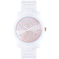 GOTO 星鑽系列陶瓷腕錶-白x玫/39mm