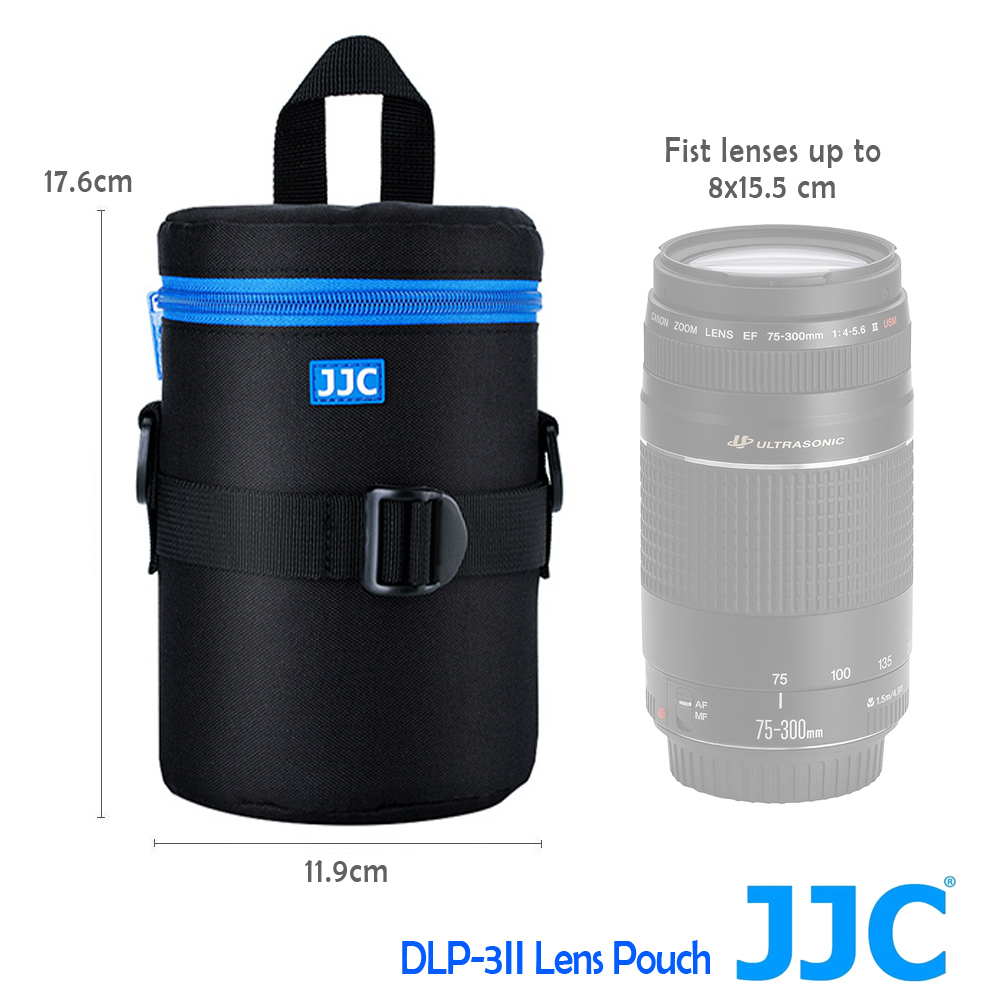JJC DLP-3 二代 豪華便利鏡頭袋 80x155mm