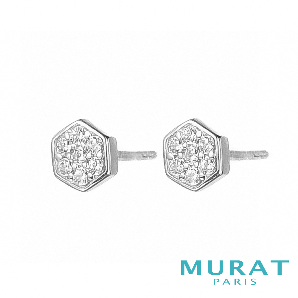 MURAT Paris米哈巴黎 耀眼滿鑽六角型耳環