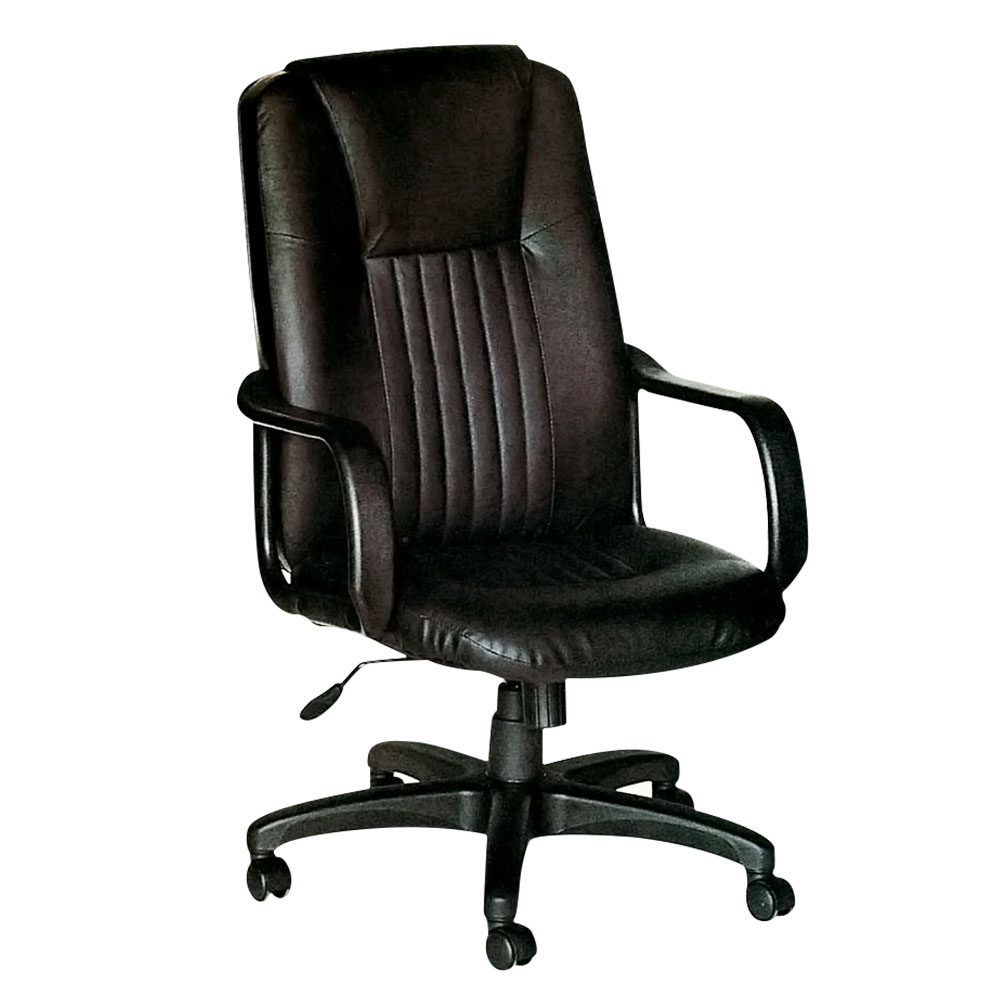 Bernice-福特半牛皮主管辦公椅-68x55x112cm