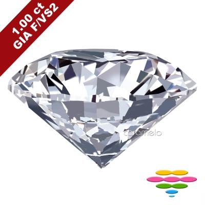 彩糖 GIA 1克拉 鑽石 F/VS2 3EX+北極光極緻車工 祼石