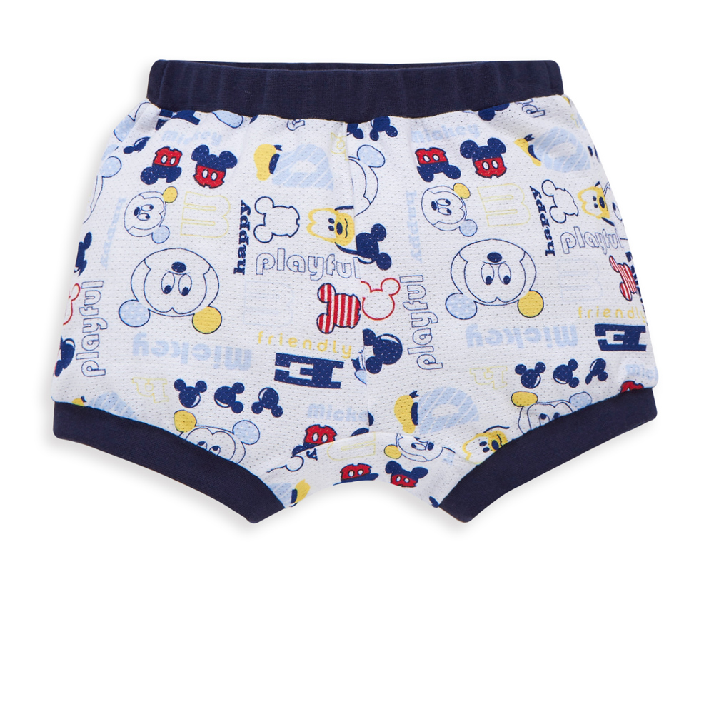 Disney baby米奇系列條紋剪接活力短褲 (2色可選)