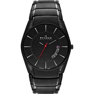 SKAGEN 運動系列 時尚腕錶-IP黑/42mm