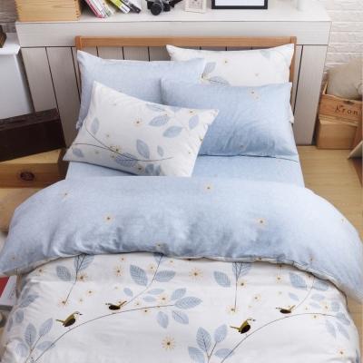 織眠坊-寧夏 文青風加大四件式特級純棉床包被套組