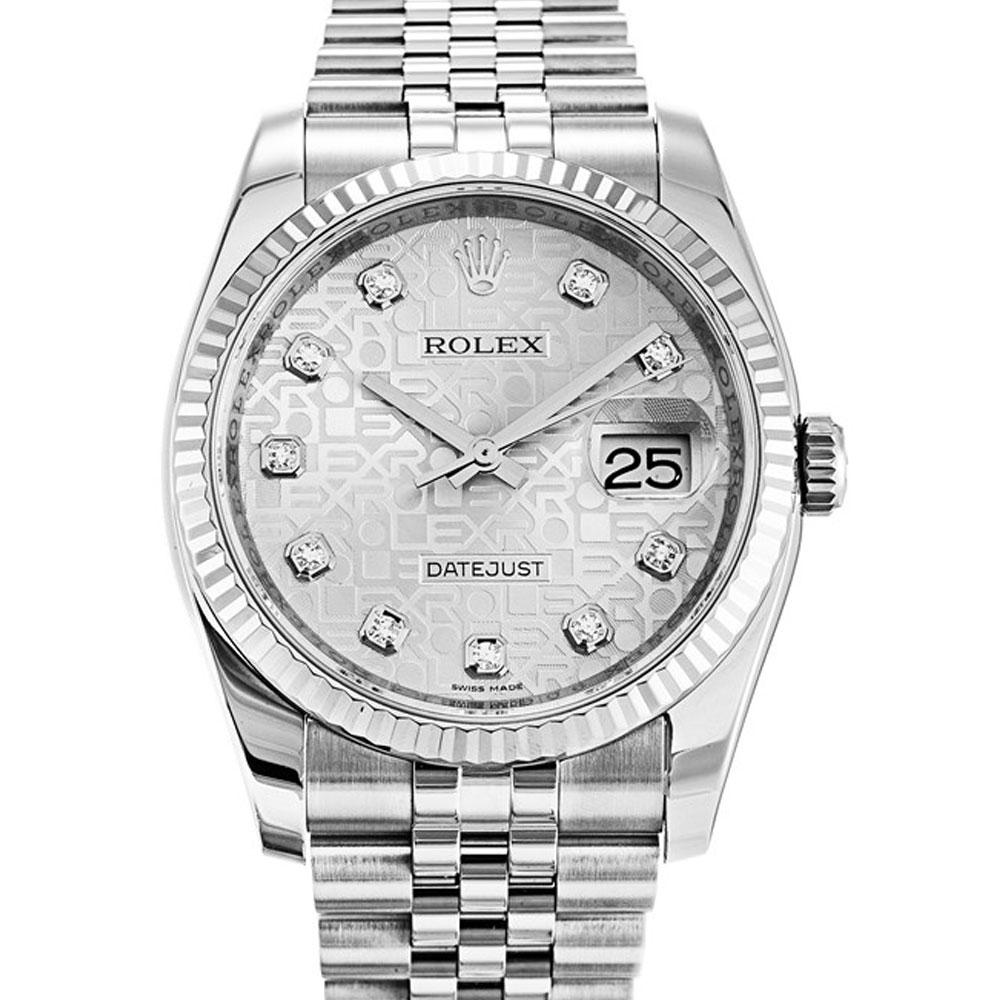 ROLEX 勞力士 Datejust 116234 蠔式恆動日誌型鑽錶-銀色紀念面-36mm