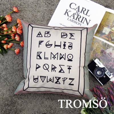 TROMSO品味英倫棉麻抱枕44x44cm U99北歐文字