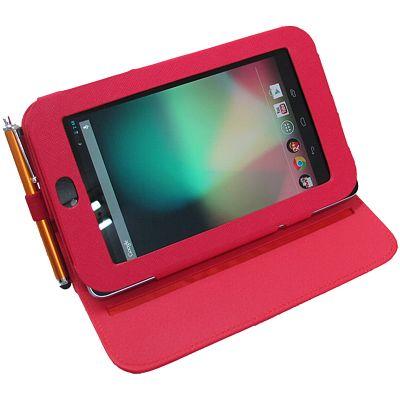 Google Nexus 7 專用皮套(紅色旋轉款#2) 可當支架用(加碼送機身貼)
