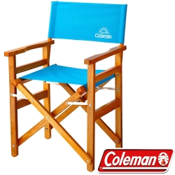 Coleman 26761_綠松石 戶外露營經典木椅 公司貨野餐露營椅/中型椅