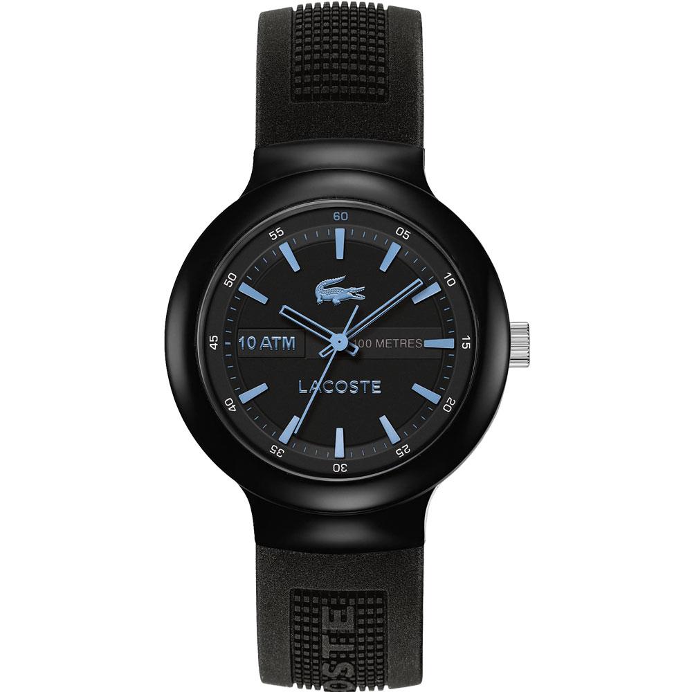 Lacoste 鱷魚 TR90經典傳奇時尚腕錶-黑x淺藍時標/44mm @ Y!購物