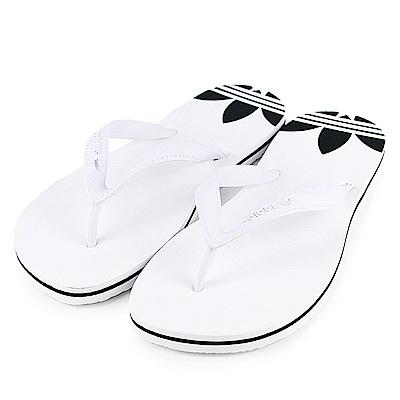 ADIDAS-ADISUN W女運動拖鞋-白