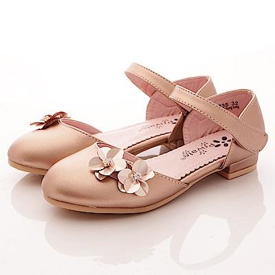 PV日系私藏~花朵鑽飾涼鞋款-7635粉紅(中小童段)T1