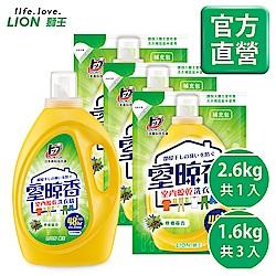 日本獅王LION 室晾香室內晾乾洗衣精1+3組合