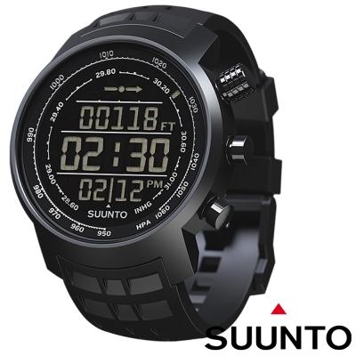 【Suunto Elementum】TERRA 登山釣魚計時錶/全黑橡膠錶帶限量款