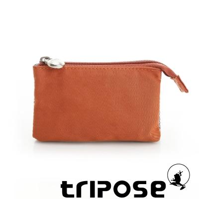 tripose 漫遊系列岩紋簡約微旅萬用零錢包 橘