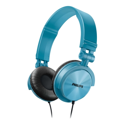 PHILIPS飛利浦 頭戴式耳機(藍綠) SHL3050TL
