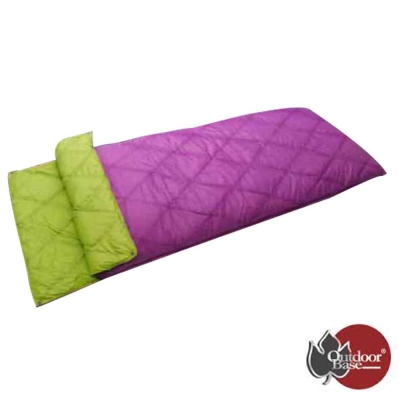 【Outdoorbase】綠野方舟羽絨保暖睡袋.雙拼睡袋_紫紅/草綠
