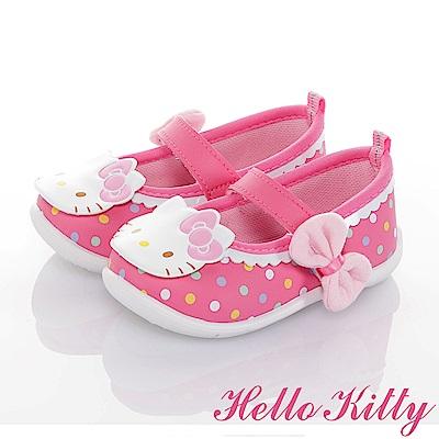 HelloKitty 輕量減壓抗菌防滑學步娃娃童鞋-可室內-桃