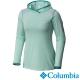 【Columbia哥倫比亞】女-鈦 酷涼快排長袖連帽上衣-綠 UAL19240HM product thumbnail 2