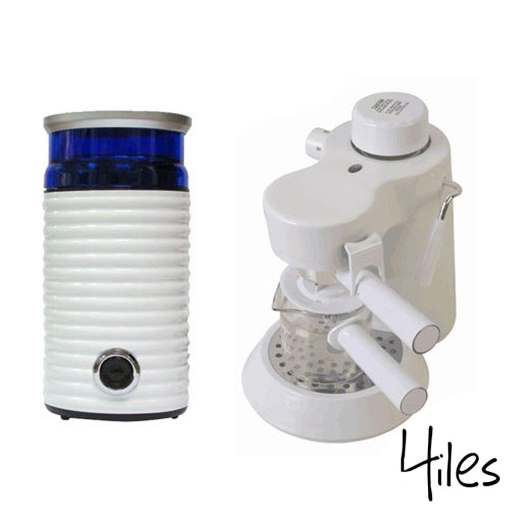 Hiles精裝組義式咖啡機電動磨豆機HE-301W HE-386W2