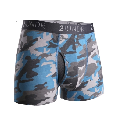 四角內褲 Swing Shift 莫代爾四角內褲(3吋)-淺藍迷彩 2UNDR