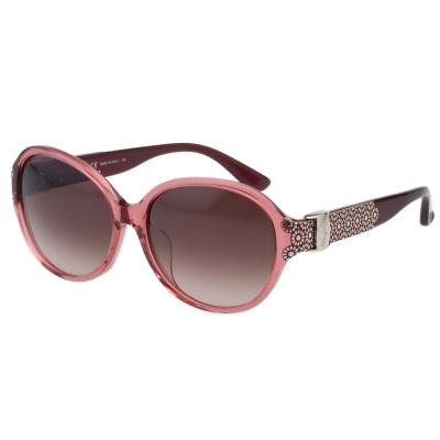 Salvatore Ferragamo- 時尚優雅太陽眼鏡(粉色)SF742SA