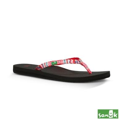 SANUK 夏威夷風格人字拖鞋-女款(桃紅色)