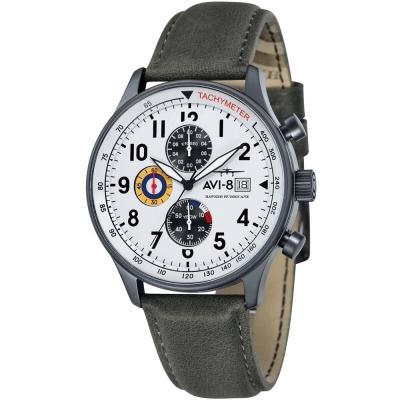 AVI-8 飛行錶 HAWKER HURRICANE 潮流手錶-白x黑/42mm