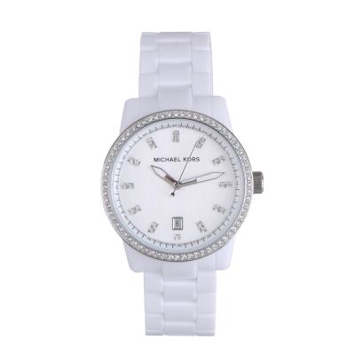 MICHAEL KORS 時尚簡約晶鑽腕錶(白)