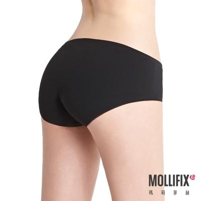 Mollifix 隱形翅膀舒膚生理褲(黑)