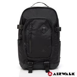 AIRWALK - 都市系列  多功能調節式運動筆電後背包-黑