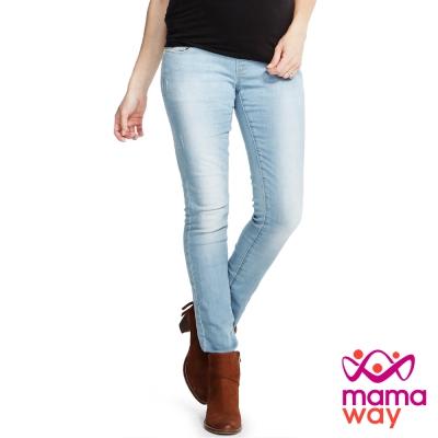 Mamaway孕期窄管彈力牛仔褲(共二色)
