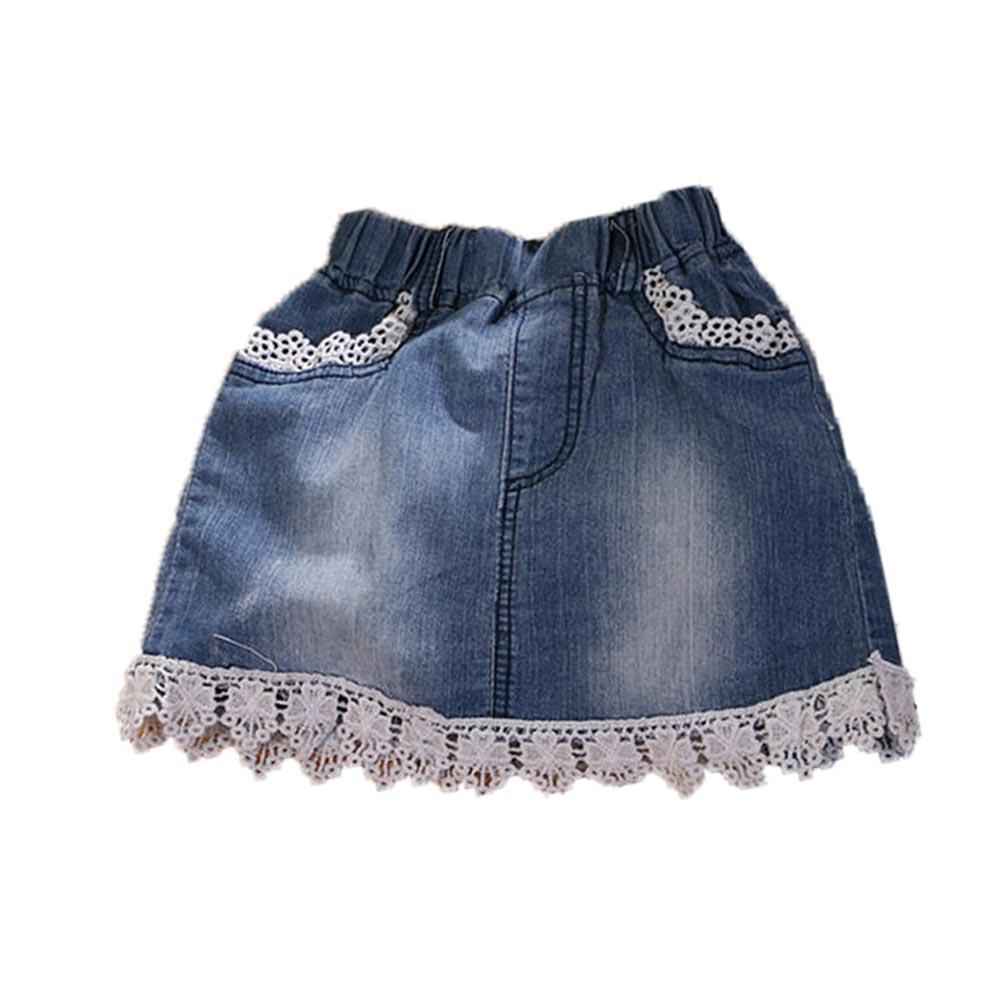花邊裙襬牛仔短裙 k50262