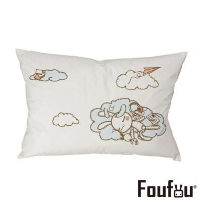 Foufou 抱枕套-風和日麗 白色(單人枕套)