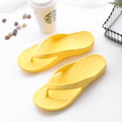 ATTA運動風簡約夾腳拖鞋-黃色