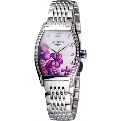 LONGINES浪琴 蘭花彩繪限量機械腕錶