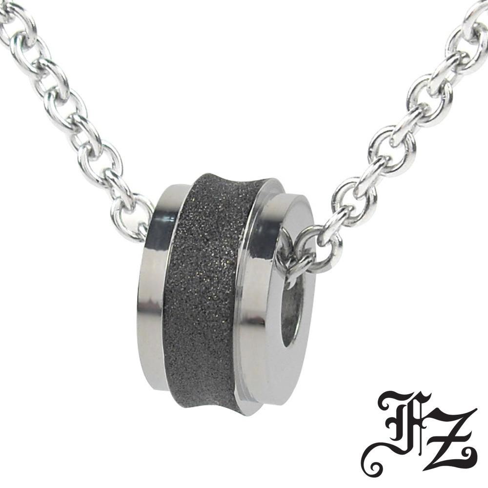 【FZ】摯愛光輪白鋼項鍊(黑)